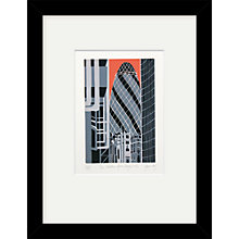 Buy Jennie Ing - The Gherkin Limited Edition Framed Linocut, 44 x 34cm Online at johnlewis.com