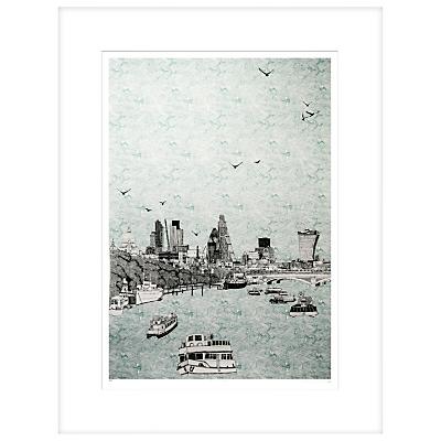 Clare Halifax – Sailing Through London Limited Edition Framed Screenprint, H93 x W73cm