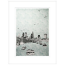 Buy Clare Halifax - Sailing Trough London Limited Edition Framed Screeprint, H93 x W73cm Online at johnlewis.com