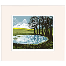 Buy Andy Lovell - Dew Pond Ditchling Limited Edition Framed Screenprint, 30 x 37cm Online at johnlewis.com