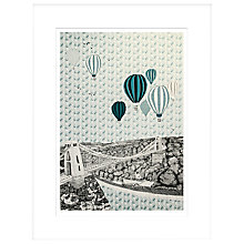 Buy Clare Halifax - Balloons Over Bristol Limited Edition Framed Screenprint, H93 x W73cm Online at johnlewis.com