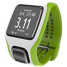 Buy TomTom Runner Cardio Watch with Heart Rate Monitor. White/Green Online at johnlewis.com