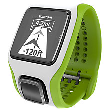 Buy TomTom Multi-Sport Cardio Watch, White/Green Online at johnlewis.com