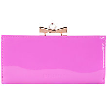 Buy Ted Baker Franny Bow Leather Matinee Purse Online at johnlewis.com