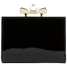 Buy Ted Baker Helan Small Crystal Leather Purse, Black Online at johnlewis.com