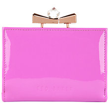 Buy Ted Baker Helan Bow Leather Popper Purse Online at johnlewis.com