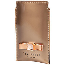 Buy Ted Baker Frili Metallic Bow Phone Sleeve, Rose Gold Online at johnlewis.com