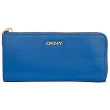 Buy DKNY Greenwich Shiny Large Half Zip Purse, Blue Online at johnlewis.com