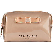 Buy Ted Baker Saman Small Bow Wash Bag Online at johnlewis.com
