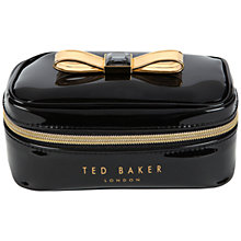 Buy Ted Baker Talen Metallic Bow Jewellery Case, Black Online at johnlewis.com