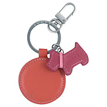 Buy Radley Parkway Leather Keyring, Orange Online at johnlewis.com