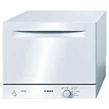 Buy Bosch SKS40E02GB Compact Freestanding Dishwasher, White Online at johnlewis.com