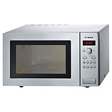 Buy Bosch HMT84M451B Microwave Oven, Brushed Steel Online at johnlewis.com