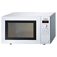 Buy Bosch HMT84M421B Microwave Oven, White Online at johnlewis.com