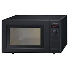 Buy Bosch HMT72G450B Microwave with Grill, Black Online at johnlewis.com