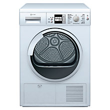 Buy Neff R8580X1GB Sensor Condenser Tumble Dryer, 7kg Load, B Energy Rating, White Online at johnlewis.com