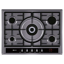 Buy Neff T26R66N0GB Gas Hob, Stainless Steel Online at johnlewis.com