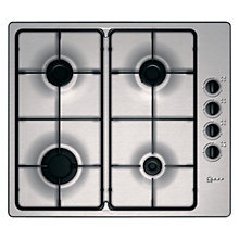 Buy Neff T21S31N1 Gas Hob, Stainless Steel Online at johnlewis.com