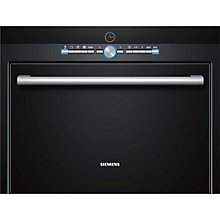 Buy Siemens HB36D675B compact45 Combination Steam Oven, Black Online at johnlewis.com