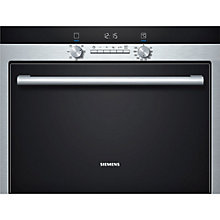 Buy Siemens HB34D553B compact45 Combination Steam Oven, Black/Stainless Steel Online at johnlewis.com