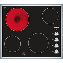 Buy Siemens ET645CE17E Ceramic Hob, Black Online at johnlewis.com