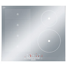 Buy Siemens EH679MN27E Induction Hob, Metal Look Glass Online at johnlewis.com