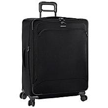 Buy Briggs & Riley Transcend 4-Wheel Expandable Large Suitcase, Black Online at johnlewis.com