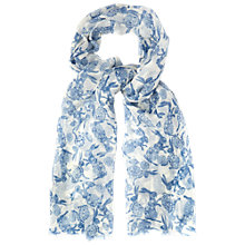 Buy White Stuff Paisley Rabbit Scarf, Off White Online at johnlewis.com