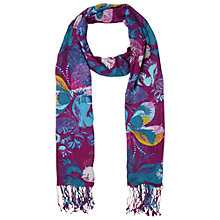 Buy White Stuff Gypsy Leaf Butterfly Scarf, Plum Online at johnlewis.com