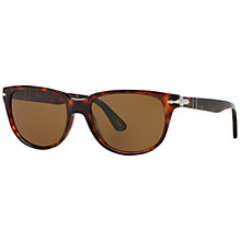 Buy Persol PO3104S Square Polarised Sunglasses, Havana Online at johnlewis.com