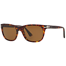 Buy Persol PO3102S Square Framed Polarised Sunglasses, Havana Online at johnlewis.com