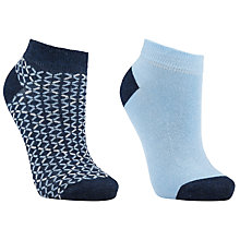 Buy John Lewis Trainer Liner Socks, Pack of 2, Blue Online at johnlewis.com