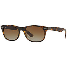 Buy Ray-Ban RB4223 Square Sunglasses, Matte Havana Online at johnlewis.com