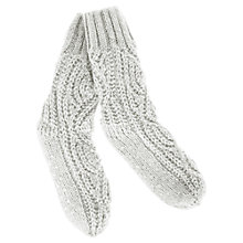 Buy Hygge by Mint Velvet Sequin Knitted Socks, Ecru Online at johnlewis.com