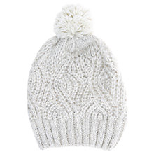Buy Hygge by Mint Velvet Sequin Knitted Hat, Ecru Online at johnlewis.com