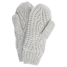 Buy Hygge by Mint Velvet Sequin Knitted Mittens, Ecru Online at johnlewis.com