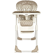 Buy Joie Baby Mimzy Highchair, Mocha Spot Online at johnlewis.com