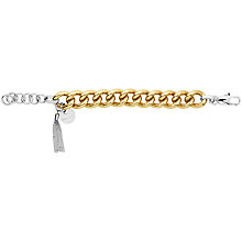 Buy Dyrberg/Kern Fundrina Brass Bracelet, Gold Online at johnlewis.com