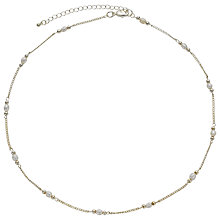 Buy John Lewis Silver Plated Faux Pearl Link Necklace, Silver Online at johnlewis.com