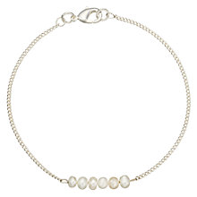 Buy John Lewis Silver Plated Multi Row Pearl Bracelet, Silver Online at johnlewis.com