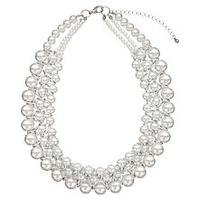 Buy John Lewis Graduating Faux Pearl Collar Necklace, White Online at johnlewis.com