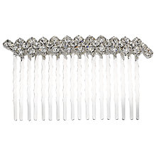 Buy John Lewis Simple Diamante Two Row Hair Slide, Silver Online at johnlewis.com