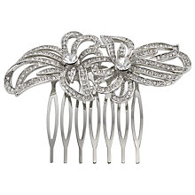 Buy John Lewis Double Flower Hair Slide, Silver Online at johnlewis.com