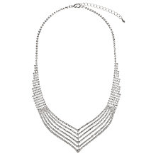 Buy John Lewis Statement Diamante Layer Necklace, Silver Online at johnlewis.com