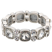 Buy John Lewis Stone Stretch Bracelet, Silver Online at johnlewis.com