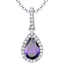 Buy Jools by Jenny Brown Sterling Silver Cubic Zirconia Teardrop Pendant Online at johnlewis.com