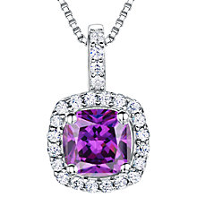 Buy Jools by Jenny Brown Sterling Silver Cubic Zirconia Square Cushion Pendant Online at johnlewis.com