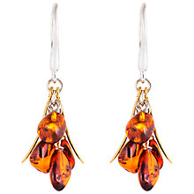 Buy Be-Jewelled Cognac Amber Drop Earrings, Amber Online at johnlewis.com