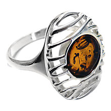 Buy Goldmajor Amber and Sterling Silver Lattice Ring, Amber Online at johnlewis.com