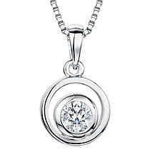 Buy Jools by Jenny Brown Rhodium Plated Silver Cubic Zirconia Swirl Pendant, Silver Online at johnlewis.com